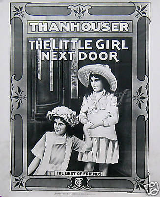 Details about THANHOUSER POSTER, THE LITTLE GIRL NEXT DOOR (L3)