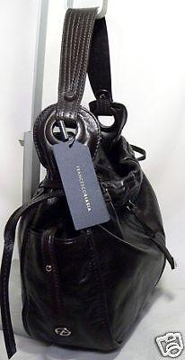 Francesco Biasia AERYN Italian Leather hobo Bag BLACK