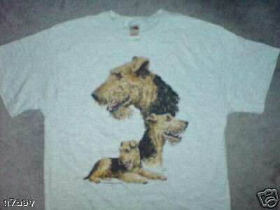 Airedale Terrier Dogs On A Fruit Of The Loom T Shirt