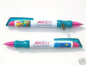 2 AMBIEN SAILBOATS/ SWEET GEL PENS/ NEW DRUG REP ITEM 1
